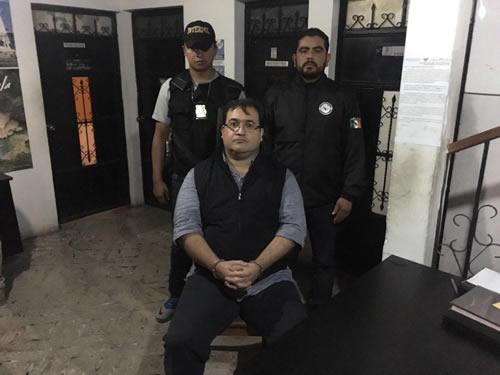 Capturan a Javier Duarte en Guatemala