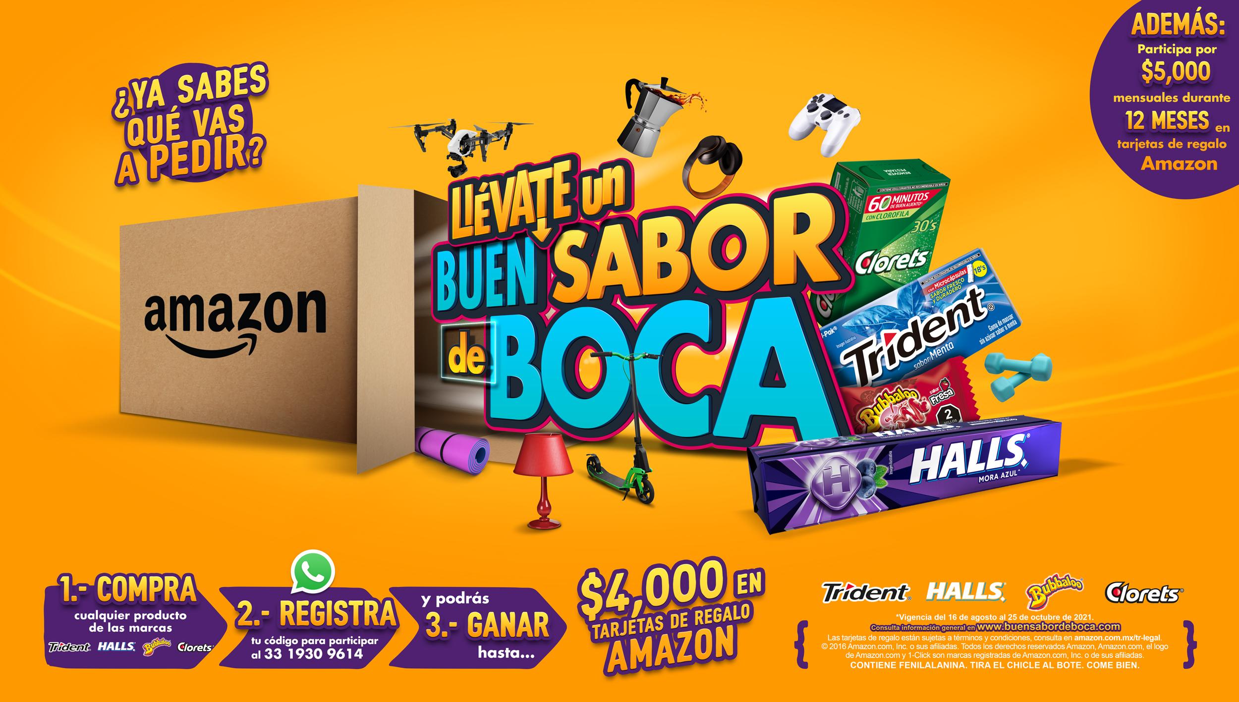 Presentan Mondelēz México y Amazon México generar la promoción de snacks más grande del año.